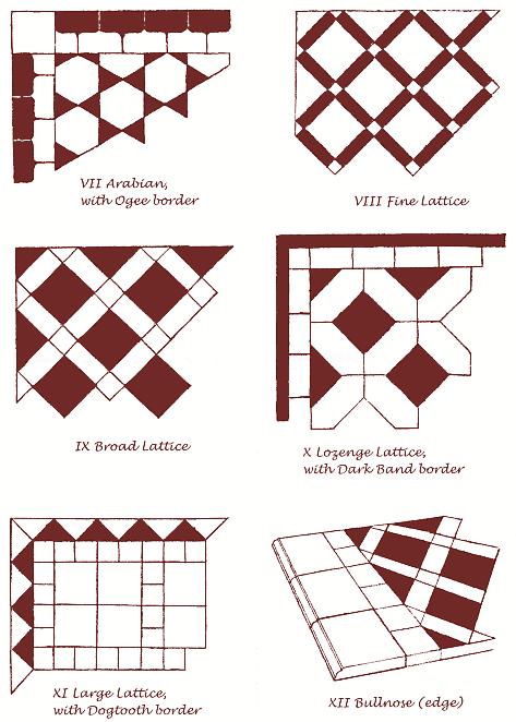 Handmade Floor Tile Patterns Aldershaw Handmade Tiles Ltd